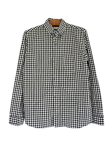 nisica(ニシカ)ボタンダウンシャツ ギンガムチェックBK...