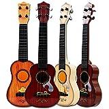 Leegoal キッズギター ナチュラルシミュレーション木製おもちゃギター 男の子 女の子 ミニウクレレ 幼児 子供 学生 初心者用