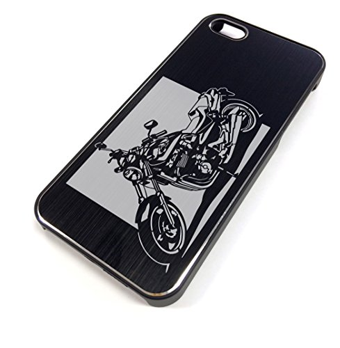 iPhone5/5Sケース「ホンダ(HONDA) X4 」切り絵デザイン ブラックアルマイト[BI5-008]