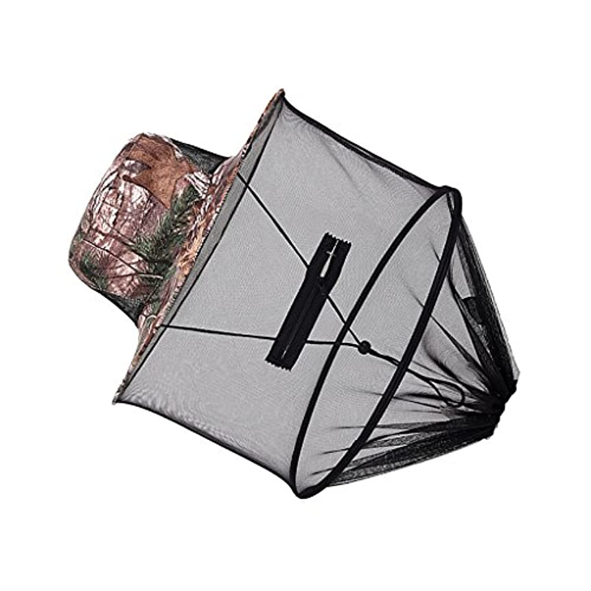 健康に賛成昨日Mosquito Midge昆虫ヘッドネット帽子メッシュ面プロテクター旅行キャンプ釣り