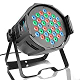 BETOPPER ステージライト 舞台照明 ディスコライト 36LEDs RGB DMX512 カラフル Par Light スポットライト パーライト 演出/舞台照明用ライト ホームパーティー/ディスコ/パーティー/KTV/結婚式/クラブ/バー イルミネーション
