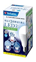 三菱化学メディア Verbatim LED電球 一般電球タイプ 口金E26 昼白色 9.2w 810ルーメン 明るさ3段階切り換え LDA9N-H/3SK