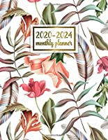 2020-2024 Monthly Planner: Trendy 5 Year Monthly Agenda with 60 Months Spread View | Five Year Organizer with To-Do's, Inspirational Quotes, Vision Boards, Notes & More | Tropical Floral & Feathers