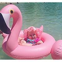 Wanghong キッズ ベビー 赤ちゃん 子供用 フラミンゴ 浮輪 足入れ 海 プール で 大活躍 かわいい フラミンゴ プール 海 フロート リゾート 夏の必需品 白鳥/フラミンゴ 2種