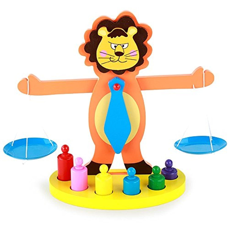 モンテッソーリ教育 円柱さし カラフル木製天秤 バランスゲーム パズル幼児 感覚教育 指先訓練 Bajoy 子どもの思考力を高める知育玩具 入園祝い 子供用 女の子 男の子 誕生日 クリスマス プレゼント