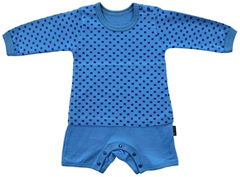 エンリコ?ジリ リンゴ柄天竺 長袖Tシャツ風オール 90cm ブルー ND14673 日本製