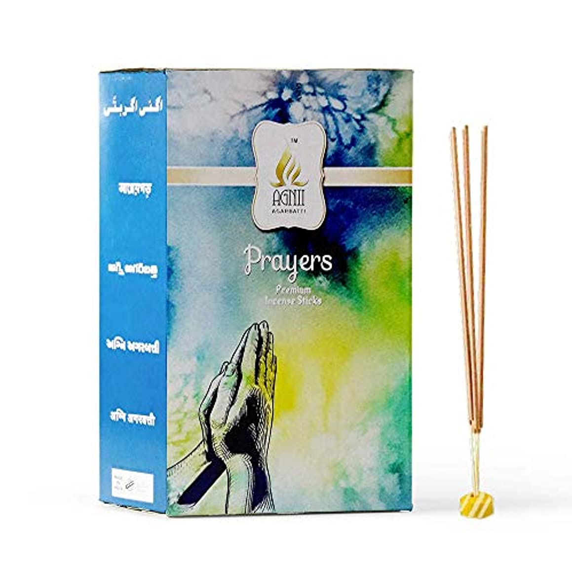 ロシアクリアマラドロイトAGNII AGARBATTI Prayers Incense Sticks (18 GRM_Brown) Pack of 12