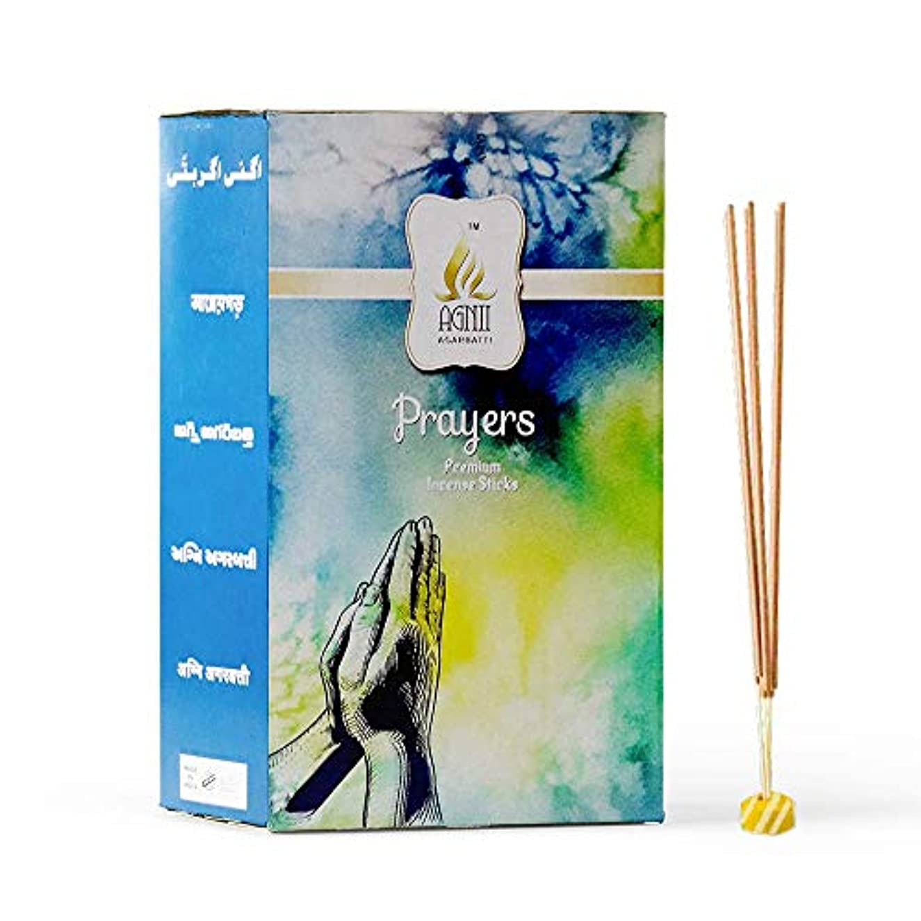火山学アクションバーガーAGNII AGARBATTI Prayers Incense Sticks (18 GRM_Brown) Pack of 12