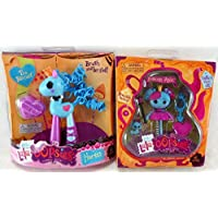 LalaLoopsy Set of 2 Mini Lala Oopsie Horse, Tea Biscuit and Mini Lala Oopsie Doll, Princess Anise [並行輸入品]
