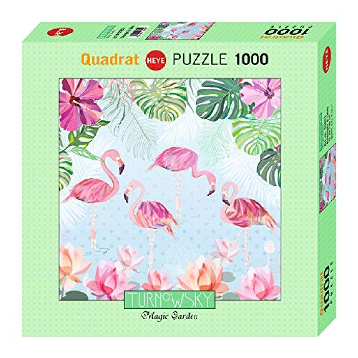 迫害するベッド東方Flamingos & Lilies Puzzle 1000 Teile