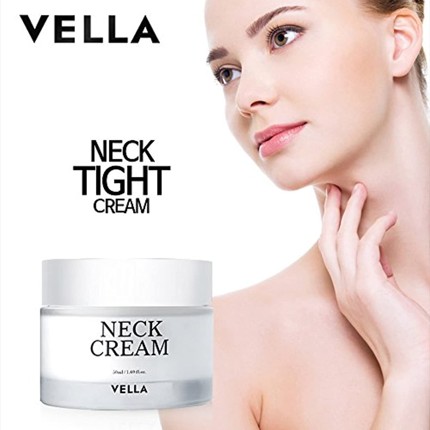 閃光有能な農民VELLA Anti Wrinkle & Whitening Strong Neck Cream(体がキレイvella首専用のクリーム) 50ml [並行輸入品]