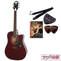Epiphone エピフォン アコースティックギター エレアコ PRO-1 Ultra Acoustic/Electric/WR サクラ楽器オリジナル初心者入門セット