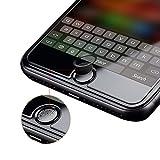 【2枚セット】ElekFX 高品質指紋認証対応 ホームボタンシール TouchID対応 ボタン保護カバーケース キャップ アルミ製フレーム 高級感あり アイフォンiPhone8/7/6シリーズ/タブレット対応(黒)