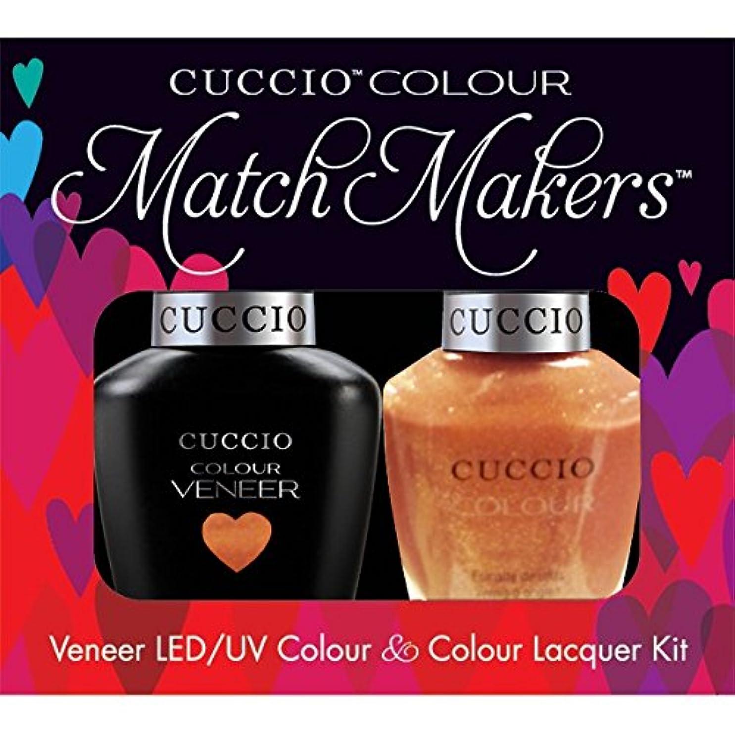 突破口送る顕微鏡Cuccio MatchMakers Veneer & Lacquer - Sun Kissed - 0.43oz / 13ml Each