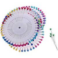 B Blesiya 約400ピース カラフル ヘッドピン コサージピン 待ち針 縫製 装飾 刺繍 安全ピン 手芸材料