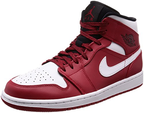 [ナイキ ジョーダン] AIR JORDAN 1 MID メンズ 554724-605 GYM RED/WHITE-BLACK 26 cm