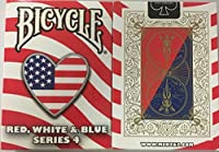 Bicycle Red, White and Blue Series 4 Heart Design Playing Cards [並行輸入品]