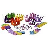4プリンセスティアラクラフトキット+ 4 Prince King Crown Foamクラフトキット – Great Fun Forキッズ誕生日パーティー