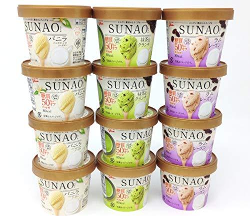 グリコ SUNAO(スナオ)アイスクリーム C バラエティ3種セット 12個