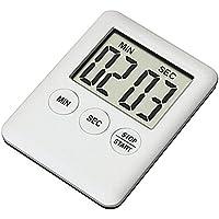 SMTHOME LCDデジタルキッチンタイマー マグネット付 大画面タイマー 超薄型 カウントダウン 卵料理ベーキングアラーム 黑白2色 1pc