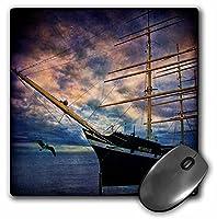 3drose LLC 8x 8x 0.25インチTall Ship Bow Gull雲川マウスパッド( MP _ 55954_ 1)