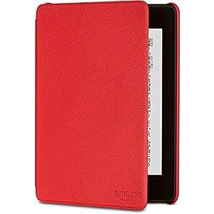 Amazon Kindle Paperwhite (第10世代) 用レザーカバー パンチレッド