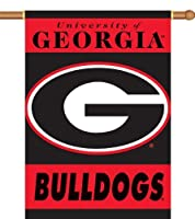 Bsi Products 96007 2-Sided 28'' X 40'' Banner W/ Pole Sleeve - Georgia Bulldogs