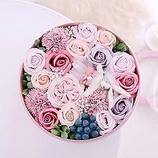 フレグランス ソープフラワー 枯れないお花 クリスマス お祝い お見舞い 誕生日 送別会 入学のプレゼントに (pink)