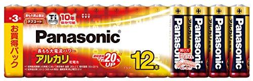 パナソニック 単3形アルカリ乾電池 12本パック LR6XJ/12SW