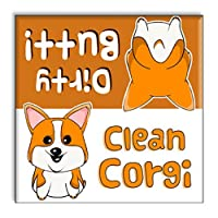 Guajolote Prints Corgi Clean Dirty Dishwasher Magnet 2.5 x 2.5 inches by Guajolote Prints
