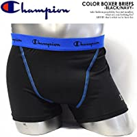 (チャンピオン)CHAMPION COLOR BOXER BRIEFS -BLACK/NAVY-