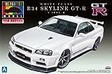 青島文化教材社 1/24プリペイントモデルシリーズNo.32R34 スカイライン GT-R V-SpecII ホワイト パール