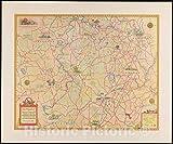 ビンテージマップ 1934 デダム、ウェストウッド、ニードルハム、ドーバー、シャーボーン、ノーウッド、メッドフィールド、ミリス、ウォルポール、ノーフォーク、マサチューセッツ州 | ヴィンテージ壁アート 55in x 44in 5121522_5544_LEV1