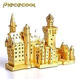 [Piececool]3Dメタリックナノパズル ノイシュヴァンシュタイン城 P013G DIY立体レーザーカットモデルおもちゃアダルト