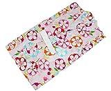 キッズ浴衣 KKU-32 浅田真央 女の子 変り織 お仕立て上がり 120 花柄 薄ピンク色