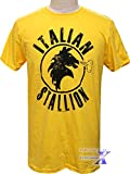 ロッキー公式 メンズTシャツ(イタリアン・イエロー) シルベスター・スタローン