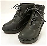 ヒナ デイグリーン 99-3501 グレー 厚底ブーツ ウェッジショートブーツ! (L(24.0))