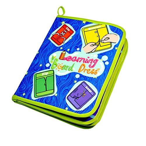 LUERME 赤ちゃん 子供 スナップボタン バックル ジッパー 靴紐結び ボタン ライフスキル 練習 知育玩具 おもちゃ