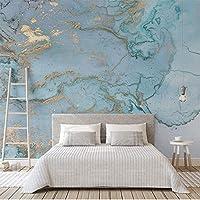 Bzbhart テレビの背景装飾画、壁用ステッカーカスタム任意サイズ3d壁画壁布ライト高級壁紙テクスチャブロンズブルー寝室リビングルームテレビの背景壁フレスコ画-450cmx300cm