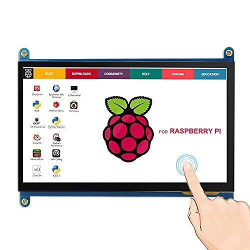 ELECROW 7インチ モニター 高解像度1024X600 HDMI 液晶ディスプレイ タッチスクリーン Raspberry Pi B+/2B Raspberry Pi3/Pcduino Banana Pi対応