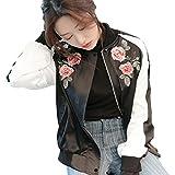 (ノーブランド品) アウター スカジャン ジャンパー ジャケット レディース 刺繍 刺繍スカジャン 刺繍ジャケット 花 フラワー デザインジャケット