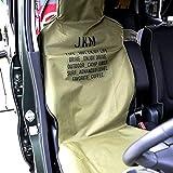 JKM 防水シートカバー シートカバー 防水タイプ フロント 1枚 カーキ 軽自動車 普通車 ミニバン SUV エプロンタイプ