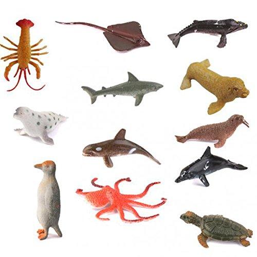 ノーブランド品 24個 海洋動物 フィギュア イルカなどのモデル 海洋の飾り ゲームの道具 プレゼント