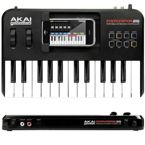 AKAI「SynthStation25」iPhone用キーボード・コントローラー