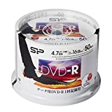 シリコンパワー データ用DVD-R 4.7GB 1-16倍速対応 ホワイトワイドプリンタブル 50枚スピンドル SPDR47PWC50S