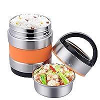 真空食品容器 絶縁お弁当 ステンレス製お弁当 店の食べ物 子供、男の子、女の子に適しています オフィス、ピクニック、旅行に最適,1.4L