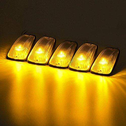 Partsam 5クリアCabマーカークリアランスライトカバー+ Amber 6–5730-smd LED電球forシボレー/ GMC c1500C2500C3500K1500K2500K3500
