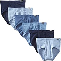 Hanes Men's 6-Pack FreshIQ Tagless No Ride Up Briefs with ComfortSoft Waistband
