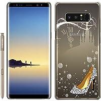 [Breeze-正規品] iPhone ・ スマホケース ポリカーボネイト [透明(BLACK)] Samsung Galaxy NOTE8 ケース SC-01K/SCV37 兼用 ギャラクシーノート8 galaxy note8 ケースカバー 液晶保護フィルム付 全機種対応 [GNT8]