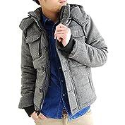 (アーケード) ARCADE 中綿 ダウンジャケット メンズ 秋冬 2WAY ツイード中綿ジャケット